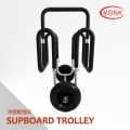 Y07007B Folding Kayak carrier Canoe rack roof carrier kayak stacker holderAluminum double SUP surfboard trolley stand up paddleboard cart canoe kayak beach cart