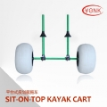 Y02017GRN Aluminum Sit-On-Top canoe kayak cart beach cart trolley with big balloon wheels