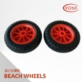 Y05013 10 inch solid PU  beach wheels
