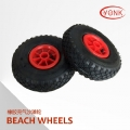 Y05013R  10 inch Pneumatic Rubber wheels