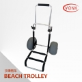 Y30004 Folding kayak canoe beach cart fishing cargo trolley with two balloon wheels