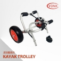 Y02004 Deluxe multifunction folding Aluminum canoe kayak cart beach cart trolley