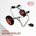 Y02005 Deluxe multifunction folding Aluminum canoe kayak cart beach cart trolley