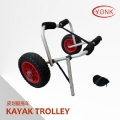 Y02009 Deluxe multifunction folding Aluminum canoe kayak cart beach cart trolley