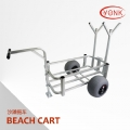 Aluminum Beach cart wagon fishing trolley with balloon wheel - Y30007